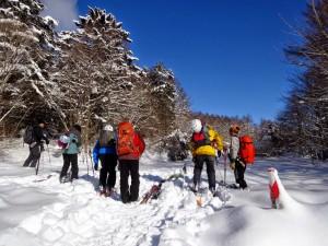 旧和田峠スキー場入り口からスタート